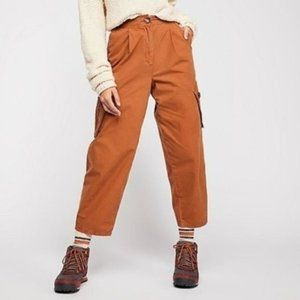 NEW NWT Free People Brown Cargo Pocket Pants 10